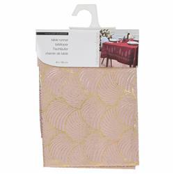 Nowoczesny obrus różowo-złoty 150x40 cm