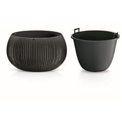 Doniczka donica Beton Bowl czarna