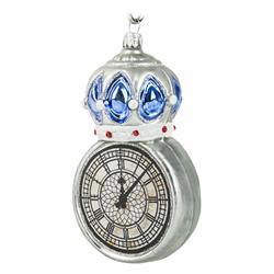 Bombka choinkowa Srebrny zegar