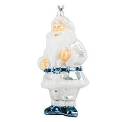Bombka choinkowa Święty Mikołaj Srebrny