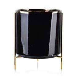 Doniczka na stojaku Neva Black 24 cm