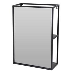 Półka ścienna z lustrem prostokątna