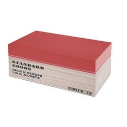 Pudełko drewniane z nadrukiem czerwone