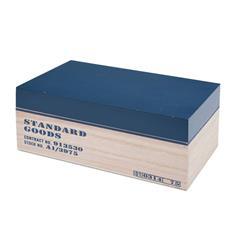Pudełko drewniane z nadrukiem granatowe
