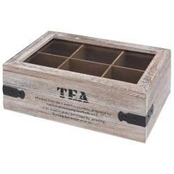 Pudełko na herbatę z przegródkami Retro