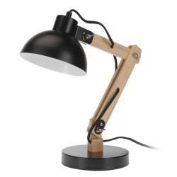 Drewniana lampka biurkowa - czarna