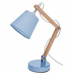 Lampka biurkowa z abażurem niebieska