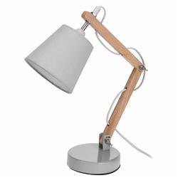 Lampka biurkowa z abażurem szara