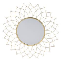Lustro ścienne słońce złote 50 cm