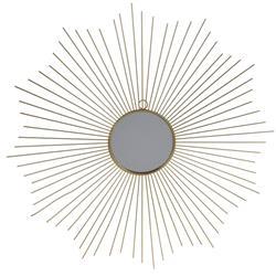 Lustro ścienne złote słońce 64 cm