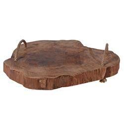 Drewniana taca z uchwytami