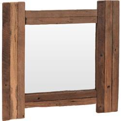 Kwadratowe lustro drewniane 50x50 cm