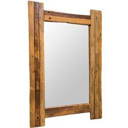 Prostokątne lustro drewniane 70x48 cm