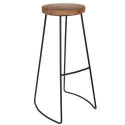 Stołek barowy z metalowymi nogami Loft