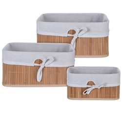 Zestaw koszy bambusowych 3 szt beżowe