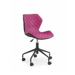 Fotel młodzieżowy Matrix czarno-różowy