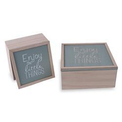 Komplet 2 dekoracyjnych pudełek