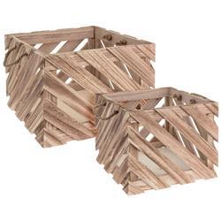 Zestaw skrzynek drewnianych 2 szt