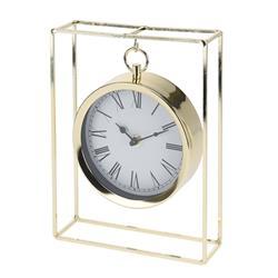 Zegar stołowy metalowy złoty