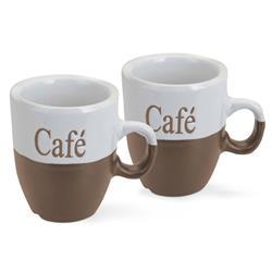 Komplet kubków do kawy jasno brązowe