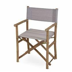 Krzesło składane bambusowe brąz