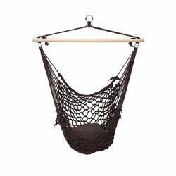 Fotel hamakowy krzesło wiszące brązowe
