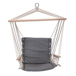 Fotel hamakowy siedzisko szare