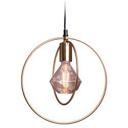 Lampa wisząca metalowa złote koła
