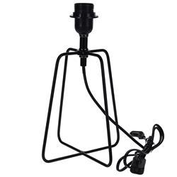 Lampa stojąca metalowa czarna