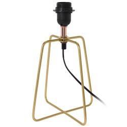 Lampa stojąca metalowa złota