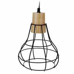 Czarna lampa wisząca geometryczna metal
