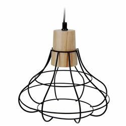 Czarna lampa geometryczna metalowa