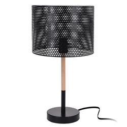 Lampka stołowa czarna z abażurem 51,5 cm