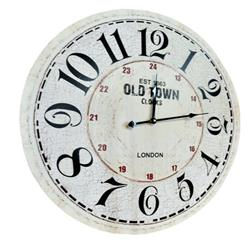 Zegar ścienny postarzany kremowy 60 cm