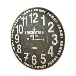 Zegar ścienny retro postarzany czarny 60