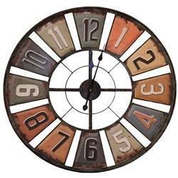 Retro zegar ścienny metalowy 80 cm
