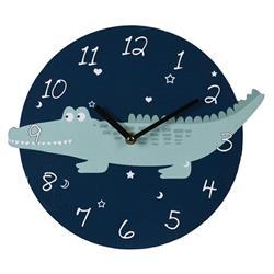 Zegar ścienny okrągły Krokodyl