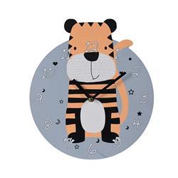 Zegar ścienny okrągły Tygrys