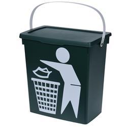 Kosz na śmieci zielony Bio 12 L