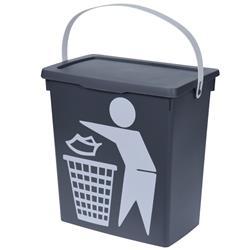 Kosz na śmieci, pojemnik szary Bio 12 L