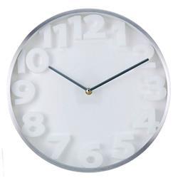 Biały nowoczesny zegar ścienny 35,5 cm