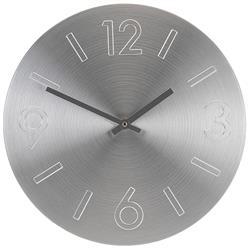 Zegar ścienny okrągły 35 cm srebrny