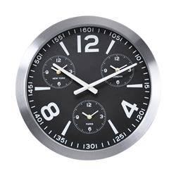 Nowoczesny zegar ścienny czarny 45 cm