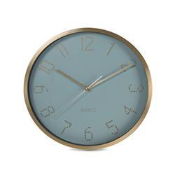 Zegar ścienny aluminiowy zielona tarcza