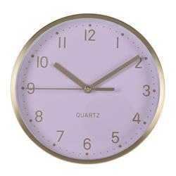 Zegar ścienny, stojący, aluminium - róż