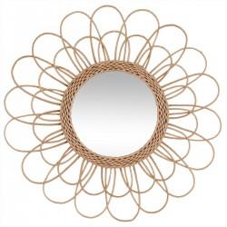 Wiklinowe lustro ścienne kwiat 56 cm
