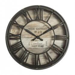 Zegar ścienny vintage brązowy 21 cm