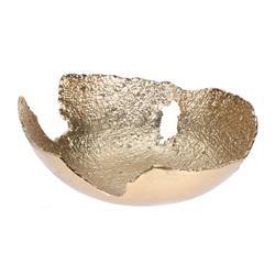 Designerka złota okrągła patera wzór 1