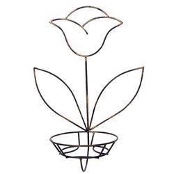 Kwietnik ścienny na jedną donicę Tulipan