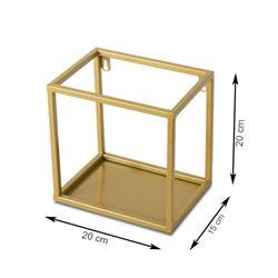 Półka wisząca ścienna metal złota 20 cm